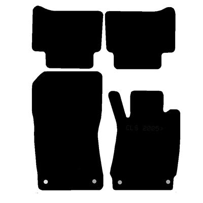 Mercedes Cls 05-11 Fully Tailored Black Car Mats Efficient
