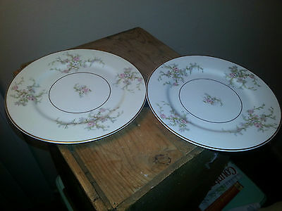 Princess China Made in U.S.A CHIC shabby vintage floral pattern 2 salad plates