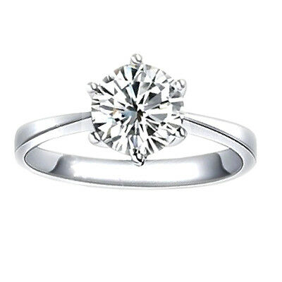DEAL! 2 CT DIAMOND SOLITAIRE ROUND CUT ENGAGEMENT RING GAL CERTIFIED F SI3-I1