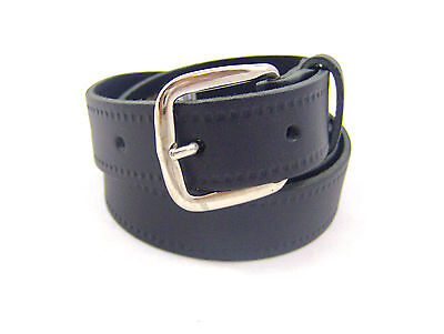 "Boys Girls Childrens Leather Belt School Belt Wedding Belt 18"" - 30"" Waist Black"