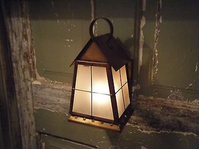 Solid Brass Light Fixture Sconce Wall Porch Antique Lantern 17 18th Century