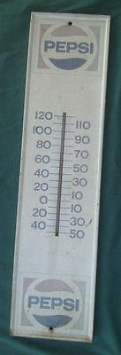 Vintage 1980's Pepsi Cola Soda Pop Advertising Thermometer Sign General Store