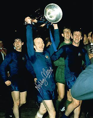 Nobby Stiles Signed 10 X 8 Inch Photo Autograph Coa Man Utd Manchester United