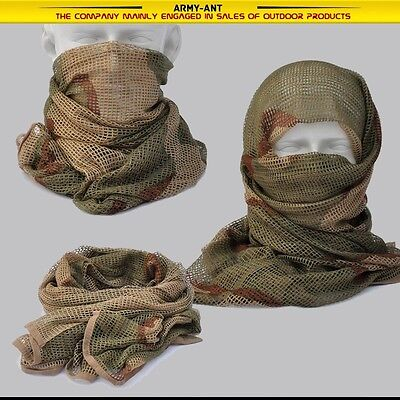 3-color desert Camouflage Camo Army Mesh Breathable Scarf Wrap Mask Shemagh Veil