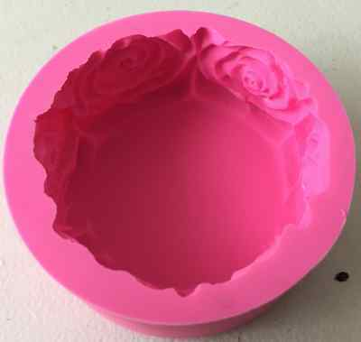 Thick Silicone Rose Round Soap Candle Cake Chocolate Mold Mould 069