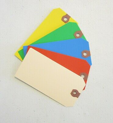 25 Colored Blank Shipping Hang Tags Scrapbook Gift Inventory Paper Label