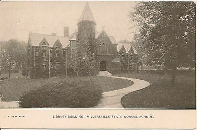Library Building Millersville State Normal School Millersville PA Postcard 1911