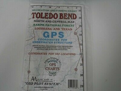 Atlantic Mapping Toledo Bend North, Geographic, Gps Charts Map