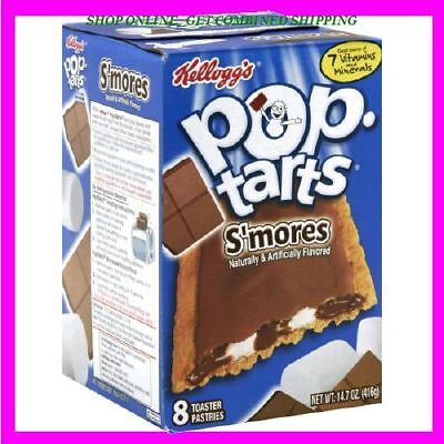 8 Pop -Tarts Kelloggs Frosted S'MORES Kellogg's, Exp. New & Fresh