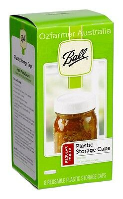 8 x Storage Caps Lids Regular Mouth Ball Mason Preserving Canning