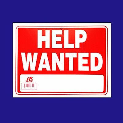 "1 Sign-  HELP WANTED -  Flexible Thick Plastic   Size: 9""x12"""