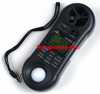 LUTRON LM-8000 Anemometer,Light/Lux Meter,Hygrometer,Thermometer 4 IN 1 Tester