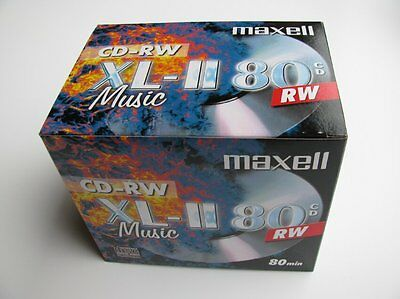 1x10 PACK MAXELL XL-II 80 Audio CD-RW Rewritable JewelCase (624865) NEU(EU Shop)
