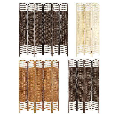 Hand Made Wicker Room Divider/separator/privacy Screen - Choice Of Size/colour
