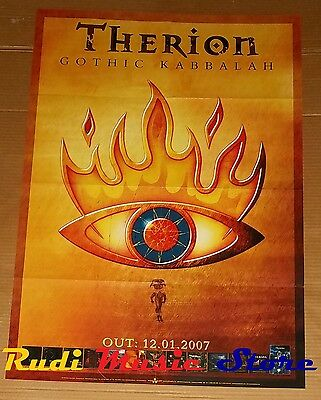 POSTER metal PROMO THERION GOTHIC KABBALAH 84 X 59,5 cm NOcd dvd vhs lp live mc