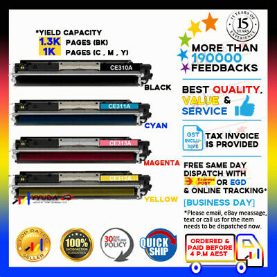 4 HP CE310A-CE313A Print Toner for HP Colour Laserjet CP1025 CP1025nw MFP M175