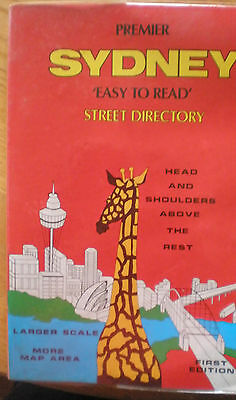 First Edition Premier SYDNEY 'Easy To Read' Collectable Street Directory As New