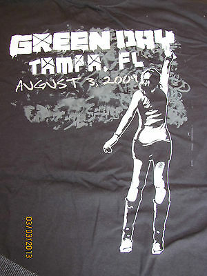 GREEN DAY  2009 Tour Shirt(OFFICIAL)   21st Century Breakdown Tour   NEW   Tampa