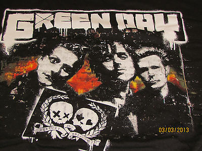 GREEN DAY  2009 Tour Shirt(OFFICIAL)  21st Century BreakdownTour  NEW Salt Lake