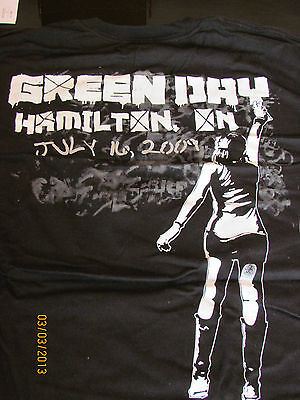 GREEN DAY  2009 Tour Shirt(OFFICIAL)  21st Century BreakdownTour  NEW  Hamilton