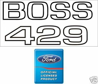 1969 - 1970 Mustang Boss 429 Fender Decal Pair  Ford Licensed