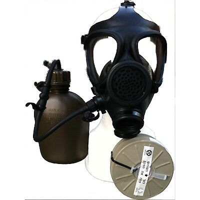 Gas Mask with Nato Filter and Drinking Tube With Hydration Canteen, Israeli M-15