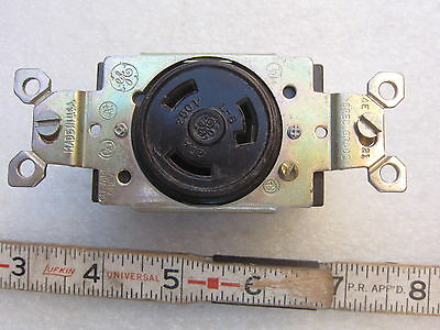 GE General Electric 20A 250V Hubbell 2320 Style Receptacle L6-20R, New