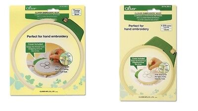 Clover Embroidery Hoop Hand Cross Stitching Plastic Craft Tool SELECT YOUR SIZE!