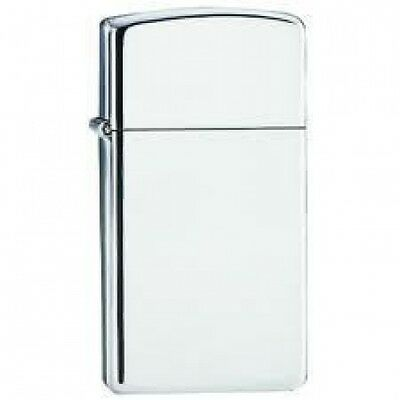 Zippo Slim High Polished Chrome Lighter, # 1610,  Engraved Free, New In Box