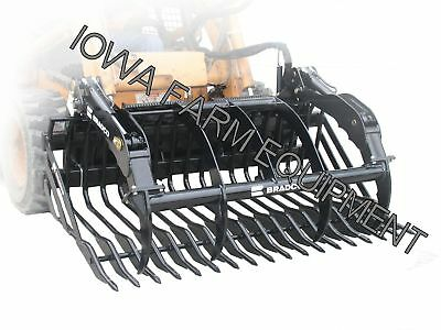 """Rock Bucket & Grapple Bradco 75""""x2"""" Skidsteer Q/A:ShipsFree2SelectStates-SeeDets"""