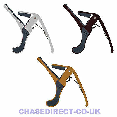 Chase CTC-28 Trigger Capo Quick Release Electric Or Acoustic Guitar Heavy Duty