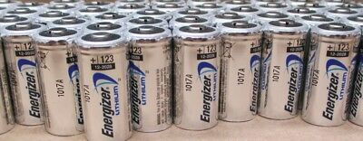 100 New Energizer Lithium Cr123A 123 123A 3V Battery Exp. 2028 Free Ship