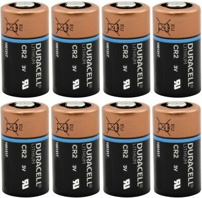 8 Pack DURACELL CR2 3v Lithium Photo Batteries