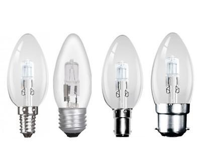 10 x Clear Low Energy Saving Halogen Candle Lamps Light Bulbs SES ES SBC BC