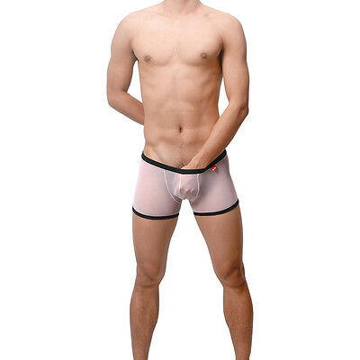 Boxer Blanc transparen taille XL  Ref S17  Uzhot by NEOFAN sheer sexy gay