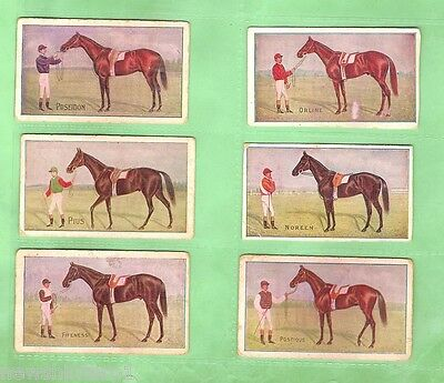 1907 Australian  Racehorses Cigarette Cards - 36 Different