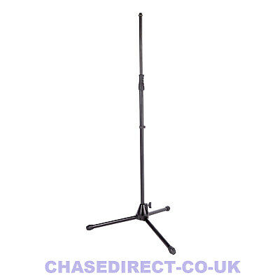 Chase Microphone Boom Mic Stand Heavy Duty With Mic Clip Black Adjustable Holder