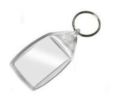 BLANK Photo Key Ring Keyrings - 1 2 5 10 or 20 - Insert Size 35 mm x 24 mm.