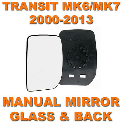 Transit Mk6/mk7 2000-2013 Manual Door Wing Mirror Glass Passenger Side Left N/s