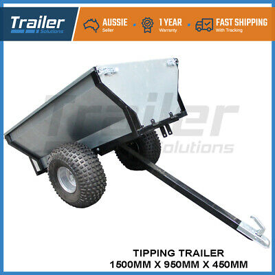Atv Tipping Trailer Garden Trolley  500Kg Capacity Cart