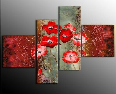 New Modern Abstract Huge Oil Painting Canvas art flower(NO Framed)
