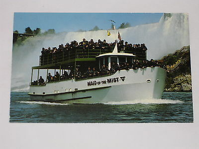 VINTAGE Maid of The Mist Boat Tour Postcard Niagara Falls World Famous Boat Tour