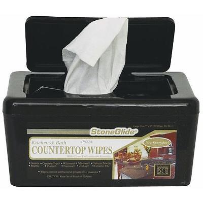 "6 Pk Magic American 50 Ct 7"" x 10"" Stoneglide Disposable Countertop Wipes 00001"