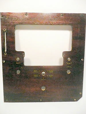CAPEHART 78 RPM 111M2  AUTOMATIC RECORD CHANGER & RADIO part - RADIO FRONT PLATE