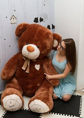 180 cm !! GIANT LARGE BIG HUGE BROWN TEDDY BEAR  EXPRESS DELIVERY+HEART CUSHION