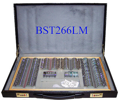 266 Pcs Optical Trial Lens Set Metal Rim Leather Case - High quality - Brand New