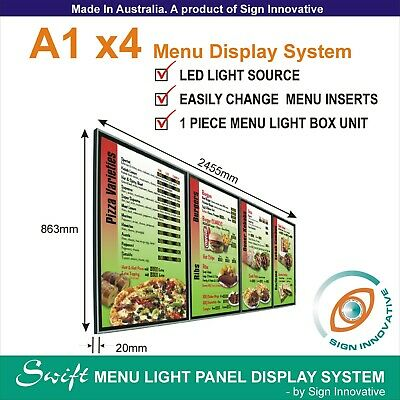 A1 x4 Swift LED MENU BOARD DISPLAY SYSTEM -ILLUMINATED MENU DISPLAY LIGHT BOX