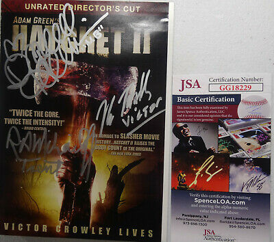 Signed Hatchet 2 Autographed Dvd By 3 Hodder Mihailoff Harris W/ Exact Proof