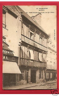 CPA 1903 postcard Old House Vieille Maison Rue St Malo BAYEUX 14 Normandie A