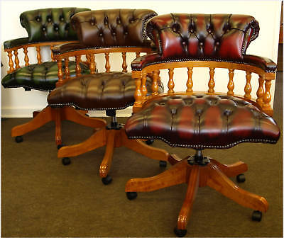 Chesterfield Captains chair Top Quality 3 colours